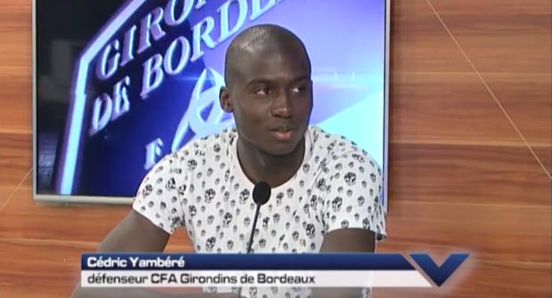 Cédric Yambéré plateau Girondins TV