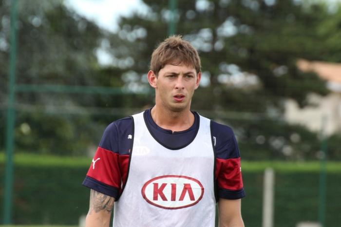 Sala à l'entraînement avec Bordeaux. Crédit : Girondins33.com