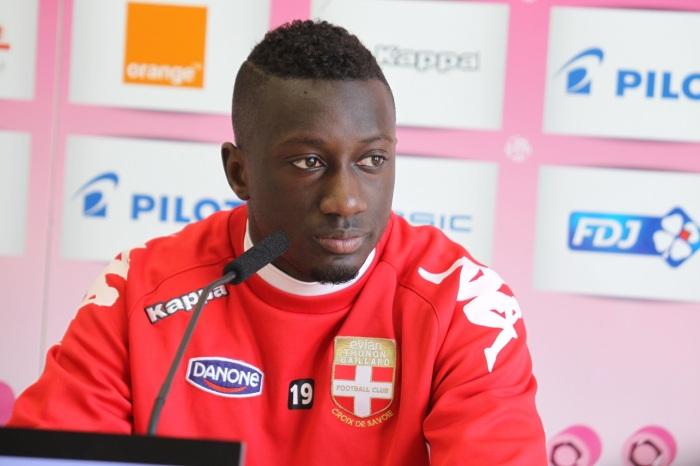 Youssouf Sabaly lors de son prêt à Evian