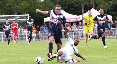 Créidt photo : Girondins.com - Enzo Crivelli hier face à Angers