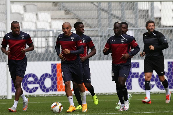 BORDEAUX, FRANCE - SEPTEMBER 16: Wahbi Khazri of Girondins de Bordeaux during the training session of Girondins de Bordeaux at the Matmut Stadium ahead their Europa league game against Liverpool on September 16, 2015 in Bordeaux, France. (Photo by Romain Perrocheau/Getty Images)